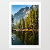 yosemite Art Prints featuring Yosemite by Stephen Yao