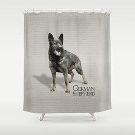 German Shepherd Dog  - GSD Shower Curtain