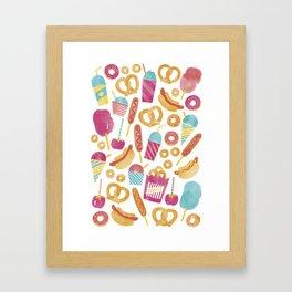 Carnival Food  Framed Art Print