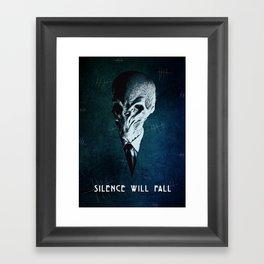 Doctor Who: The Silence Framed Art Print