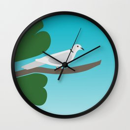 Ringed Turtle Dove Wall Clock