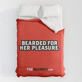 BEARDED FOR HER PLEASURE. Duvet Cover