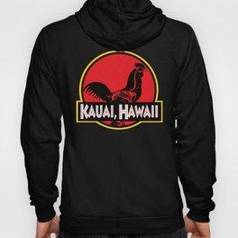 Kauai, Hawaii Jurassic Park Rooster Hoody