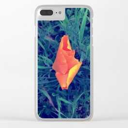 Poppy Earth Mother Clear iPhone Case