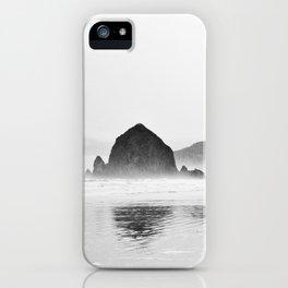 Haystack Rock B&W iPhone Case
