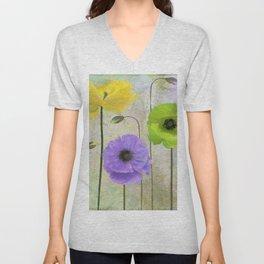 Poppy Shimmer I Unisex V-Neck