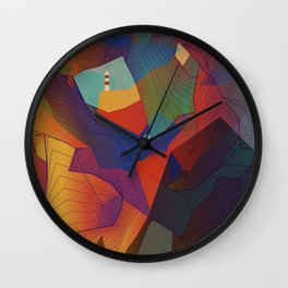 The Rocks by the Lighthouse Wall Clock