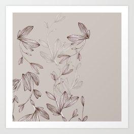 Botani Line IV Art Print