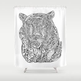 The power of the tiger Shower Curtain