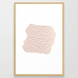 crumpled paper. Kraft paper Framed Art Print
