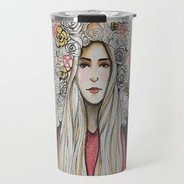 """"""" Floret Gold """" Travel Mug"""