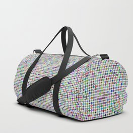 Cyberatomic flower pattern Duffle Bag