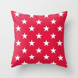 Stars (White/Crimson) Throw Pillow