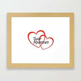 Two Heart Just married Framed Art Print