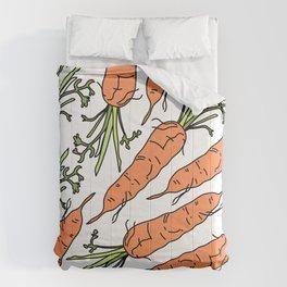 Orange Carrots Comforters