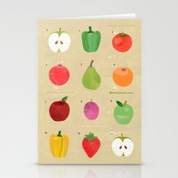 fruit Stationery Cards featuring Fruit by Jessie Ford