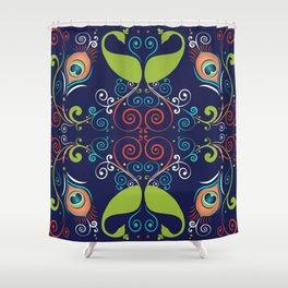 Peacock Nouveau Shower Curtain