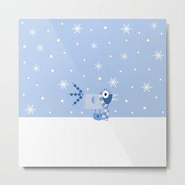 Winter Birds : First Snow Metal Print