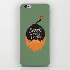 Beards not Bombs iPhone & iPod Skin