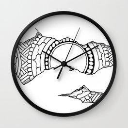 Ripped Mandala Wall Clock
