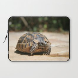 Young Tortoise Emerging From Its Shell Laptop Sleeve