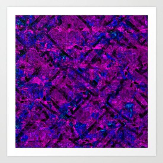 Vitrage (Purple) Art Print