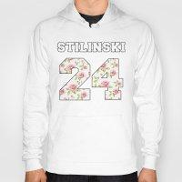 stiles stilinski Hoodies featuring Stilinski 24 by Indy