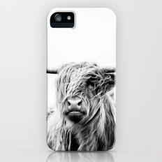 portrait of a highland cow iPhone SE Slim Case