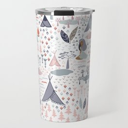 Native american inspired pattern pastel colors Travel Mug