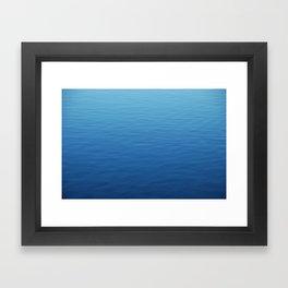 Where did all the waves go? Framed Art Print