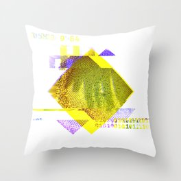 GLITCH NATURE #82: Seeding sunflower Throw Pillow