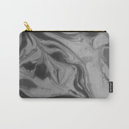 Black and grey marble Carry-All Pouch