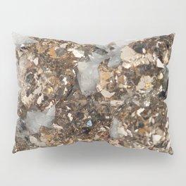 Pyrite and Quartz Pillow Sham