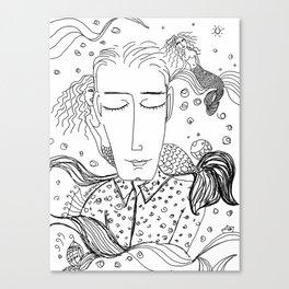 Sueños de sirenas Canvas Print