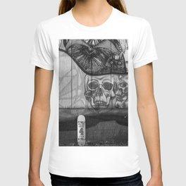 Skulls and Skating (Black and White) T-shirt