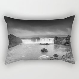 Storm at Goðafoss Rectangular Pillow