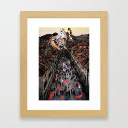 Street party Framed Art Print