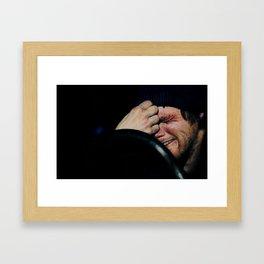 You Erased Me Framed Art Print
