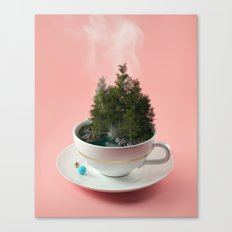 Hot cup of tree Canvas Print