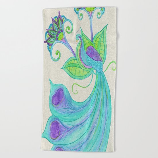Peacocks & Paisley (2) Beach Towel
