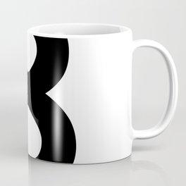 Number 8 (Black & White) Coffee Mug