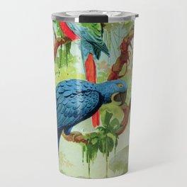 Amazonian Birds August Belem Brazil Colorful Tropical Birds Scientific Illustration Parrots Travel Mug