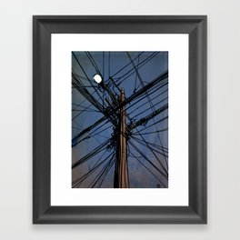 wires 02 Framed Art Print