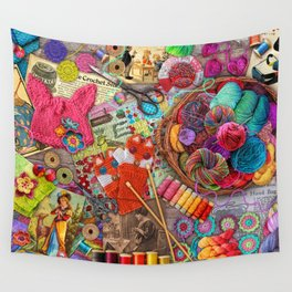 Vintage Yarn & Thread Wall Tapestry