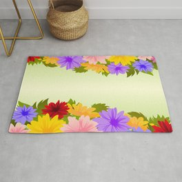 Colorful floral background Rug