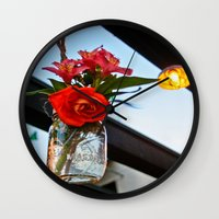 outdoor Wall Clocks featuring Outdoor Decor by Kim Ramage