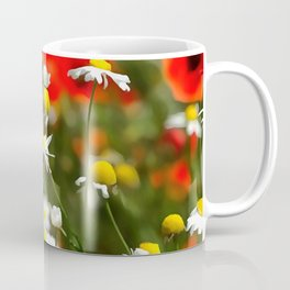 In A Field of Poppies Be A Daisy Coffee Mug