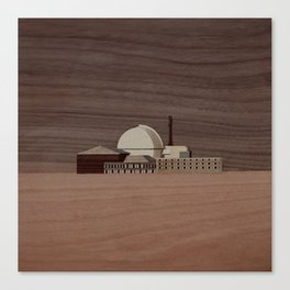 Douneray Nuclear Facility | Marquetry Canvas Print