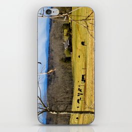 Cattle ranch overlooking the Blue Ridge Mountains iPhone Skin