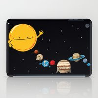planets iPad Cases featuring Planets by awkwardyeti